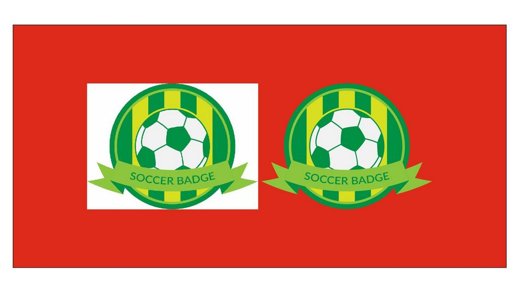 Разница логотипа футбольного клуба в векторной и растровой графике.