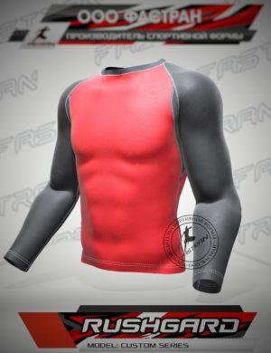 RASHGUARD MODEL RED-BLK